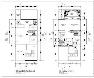 denah rumah minimalis  lantai terbaru