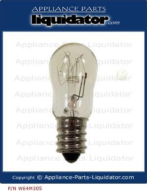 dryer light bulb appliance parts liquidator dryer light bulb we4m305