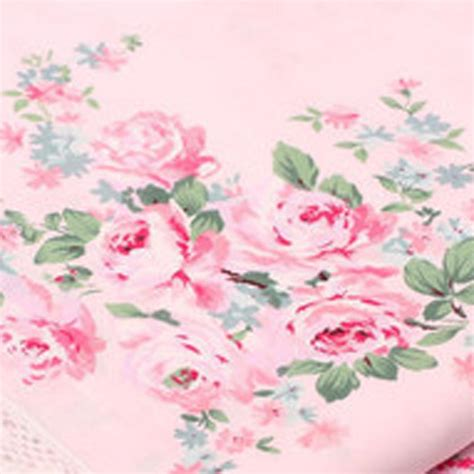 shabby chic pink roses rose fabric