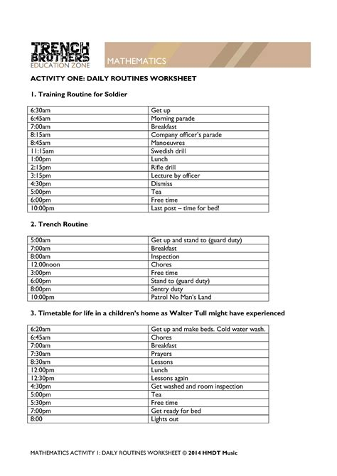 time and daily routine worksheet esl vocabulary