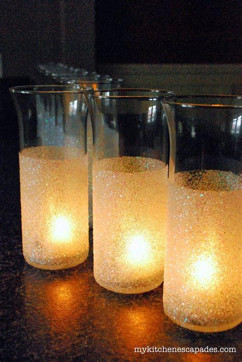 glitter vases  wedding  christmas decorations diy