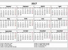 2017 Calendar UK monthly calendar 2017