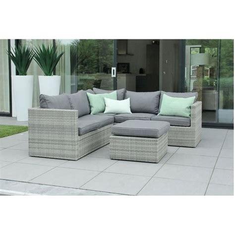 canape en resine tressee mobilier de jardin en résine tressée design gris beige