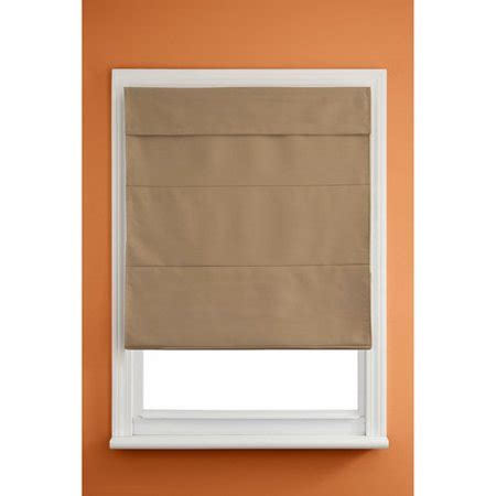 Kenney Cordless Insulated Roman Shade, Olive Walmartcom