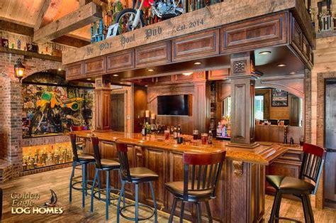 Log Home By Golden Eagle Log Homes   Bar Close Up   Timber