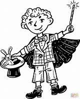 Coloring Magic Magician Pages Clipart Kid Printable Cartoon Clip Supercoloring Drawing Games Popular Dots sketch template