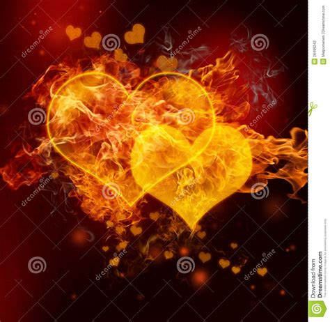 fire hearts stock photography image