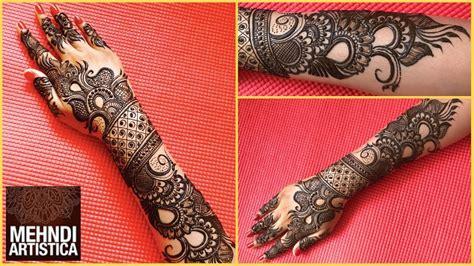 New Designer Mehndi Design For Bride