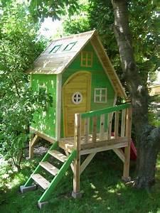 Stelzenhaus Selber Bauen : kinderspielhaus stelzenhaus aus holz mit rutsche garten garten pinterest ~ Watch28wear.com Haus und Dekorationen