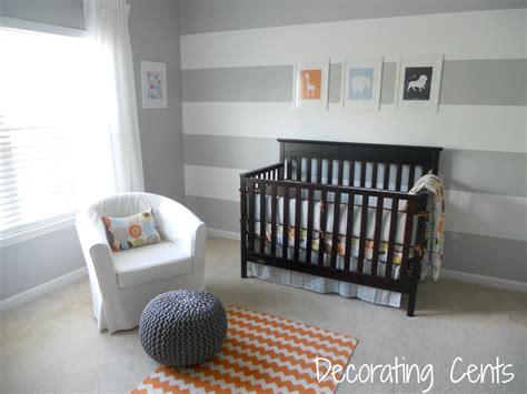 gray and orange nursery project nursery
