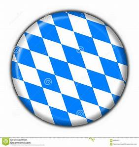 Bavarian Button Flag Round Shape Royalty Free Stock ...