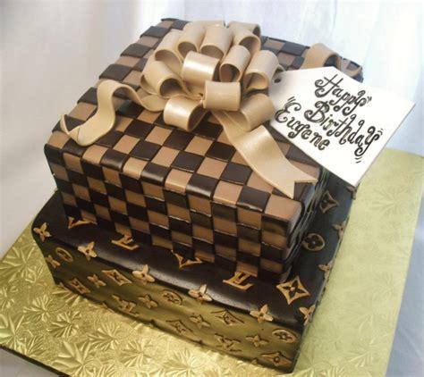 fresh daily louis vuitton gift box birthday cake  cupcakes