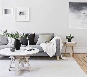 Deco Avec Du Gris : deco salon avec canape gris et blanc ~ Zukunftsfamilie.com Idées de Décoration