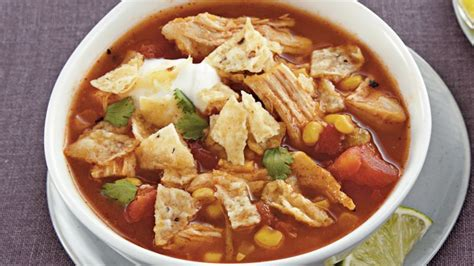 cooker chicken tortilla soup slow cooker chicken tortilla soup recipe bettycrocker com
