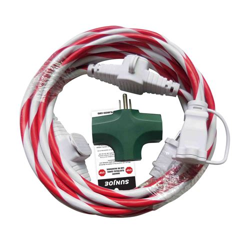 sun joe 25 ft indoor outdoor extension cord with cord