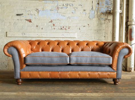 Leather Chesterfield Sofas by Naunton Leather Chesterfield Sofa Abode Sofas