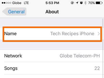 how to name your iphone how to change the name of your iphone