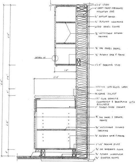 kitchen cabinets details cabinet autocad sections search cd 2966