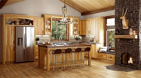 kitchen paint colors with hickory cabinets hickory rustic hickory creek cabinet company 9510