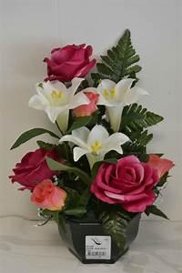Pot De Fleur Gifi : fleurs toussaint artificielles ~ Teatrodelosmanantiales.com Idées de Décoration