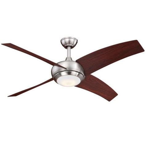 turn of the century fans turn of the century ridge 48 in satin nickel led ceiling