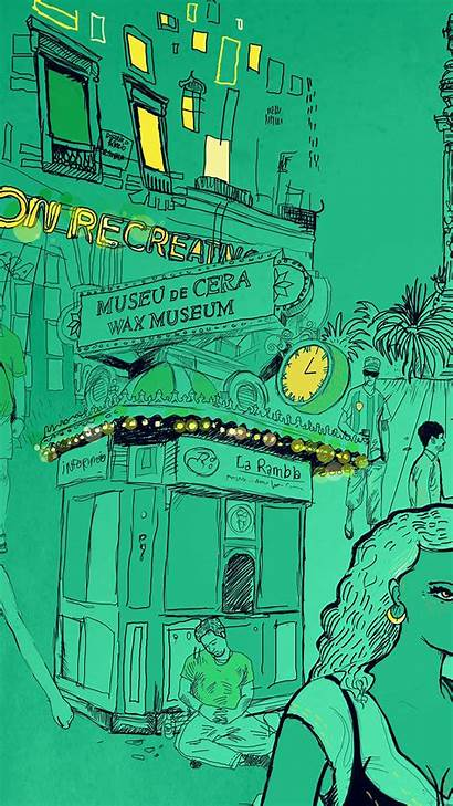 Illustration Street Museum Iphone Wax Papers Wallpapers