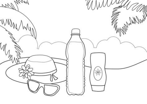 kostenlose malvorlage sommer sonnenbad zum ausmalen