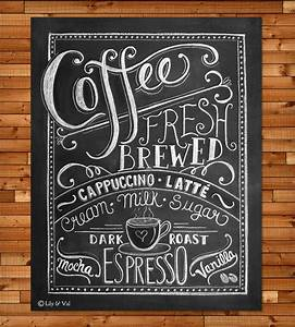 Coffee Love Chalkboard Art Print Art Prints & Posters