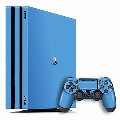 Ps4 Pro Playstation Skin Glossy Sky Console