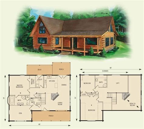Small Log Home Plans With Loft cabin floor loft with house plans dogwood ii log home