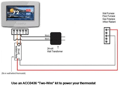 2wire Thermostat Wiring Diagram by Thermostat For Wall Or Floor Furnace Hvac Problem Solver