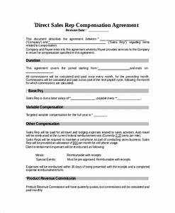 compensation plan template 8 free word document With sales compensation plans templates