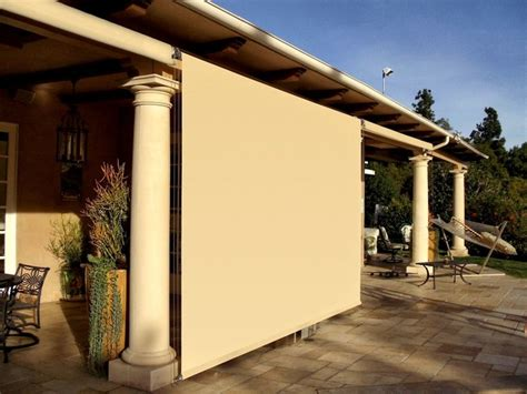 outdoor patio roller shades mediterranean patio los