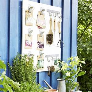 fabriquer un rangement mural pour le jardin marie claire With fabriquer un porte outils mural