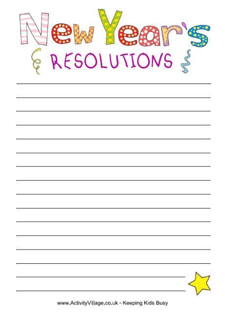 new year resolutions printable kid free la escuela de ingles de new year s resolution