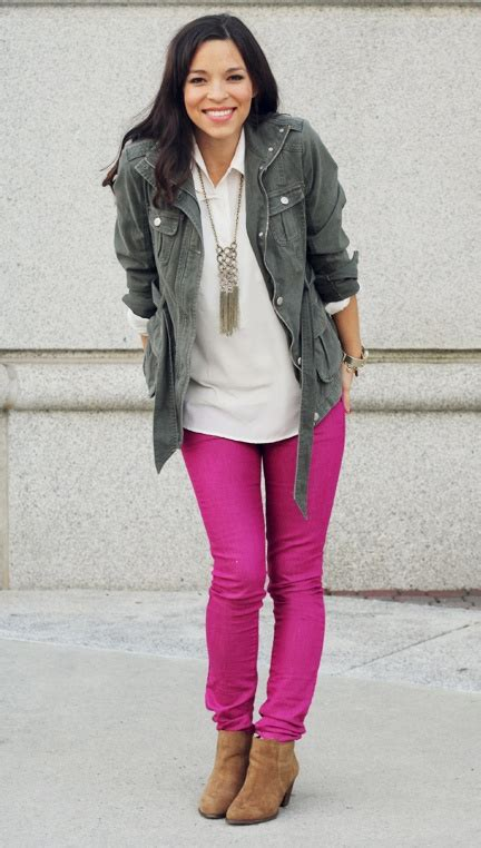 How to style hot pink pants during winter ...