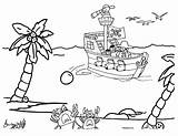 Pirate Ship Coloring Pages sketch template