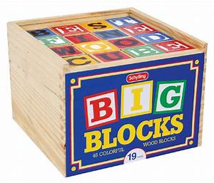 amazoncom schylling abc big blocks 48 piece wood With toy blocks with letters