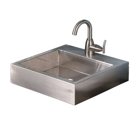 square drop in bathroom sink shop decolav simply stainless brushed stainless steel drop
