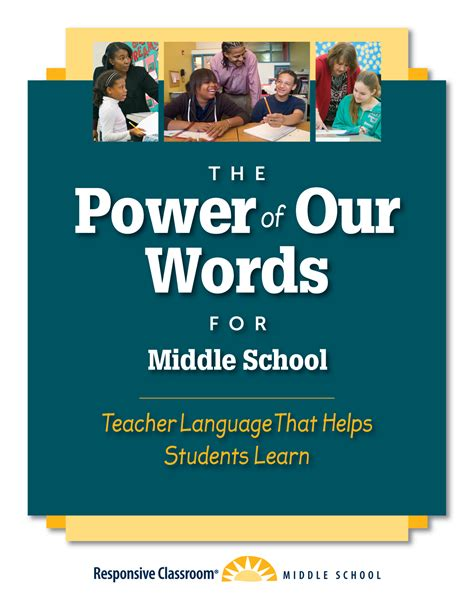 The Power Of Our Words For Middle School  Responsive Classroom