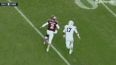 referees missed horse collar tackle  johnny manziel