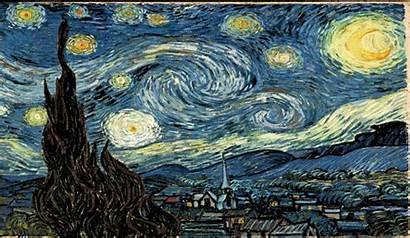 Night Gogh Starry Vincent Painting Gifs Hundra55