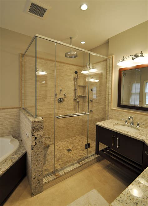Bathroom Stand Up Shower by Stand Up Shower With Sprays Bench Seat
