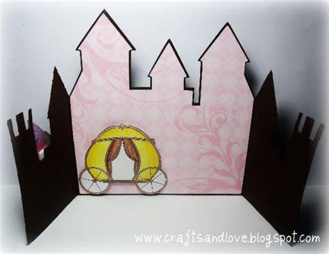 crafts  love princess castle card template