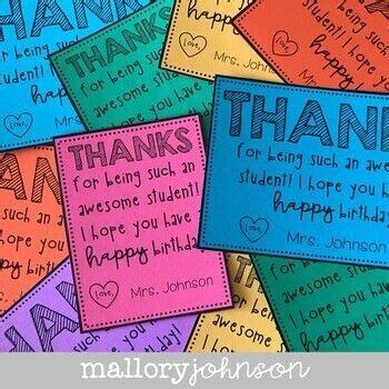 editable birthday cards  teachers  students