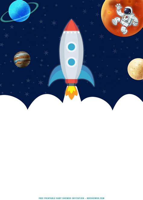 printable fabulous outer space baby shower