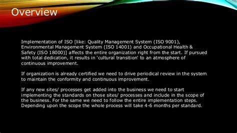 Iso Implementation Roadmap- By Motaharul Islam