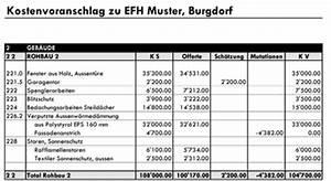 Kostenvoranschlag Einfamilienhaus Bauplanung Bauf Hrung Und
