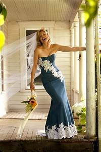 Wedding Dress With Blue Jean Jacket Wedding Gown Dresses ...