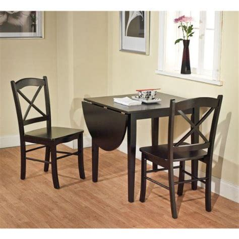 2 chair table set black 3 piece country cottage dining set table and 2